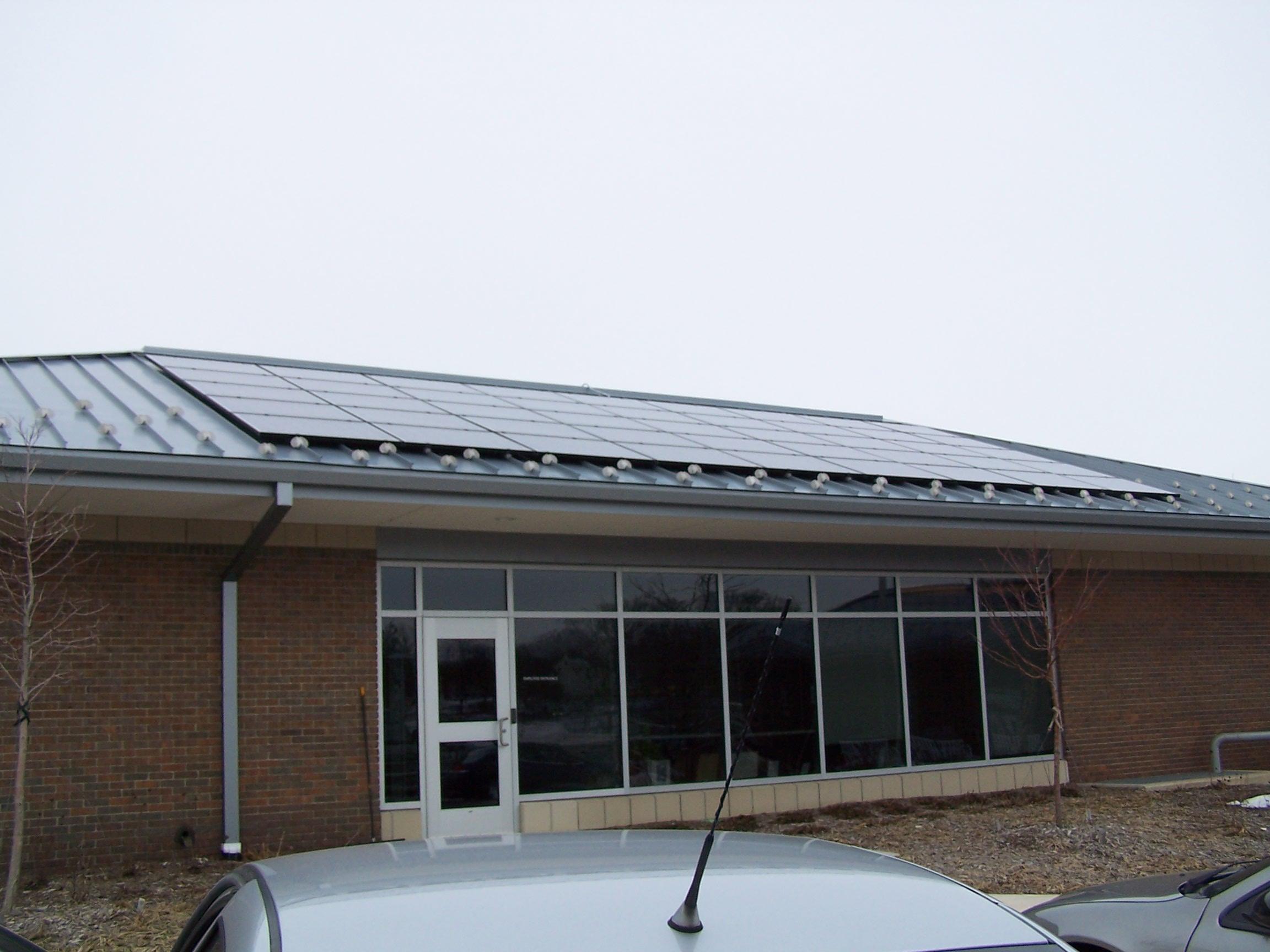 Solar array on Library